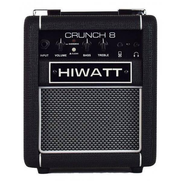 HIWATT CRUNCH 8 COMBO DE GUITARRA NEGRO