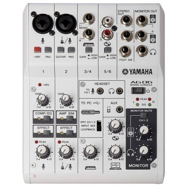YAMAHA AG06 MEZCLADOR INTERFACE USB 6 CANALES