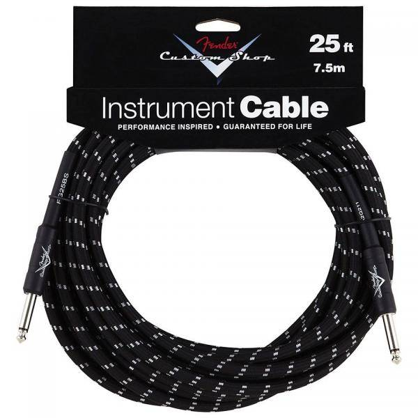 FENDER CUSTOM SHOP CABLE INSTRUMENTO NEGRO 7,5M
