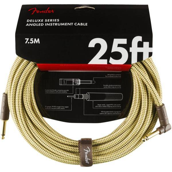FENDER DELUXE 7,6M ANGL CABLE INSTRUMENTOS TWD