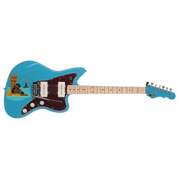 G&L CUSTOM SHOP LIM ED DOHENY MIAMI BLUE GUIT EL