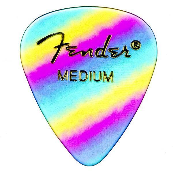 FENDER 351 SHAPE RAINBOW MEDIUM PACK 12 PÚAS