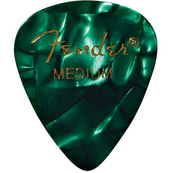 FENDER 351 SHAPE GREEN MOTO MEDIUM PACK 12 PÚAS