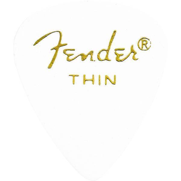 FENDER 351 SHAPE WHITE THIN 12 PÚAS