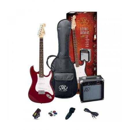 SX SE1 CANDY APPLE RED  PACK GUITARRA ELÉCTRICA