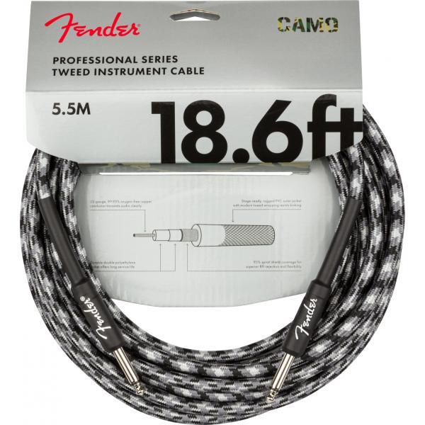 FENDER PROFESSIONAL CABLE GUIT 5,5M CAMUFLAJE GRIS
