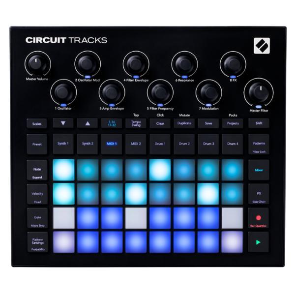 NOVATION CIRCUIT TRACKS CONTROLADOR DJ