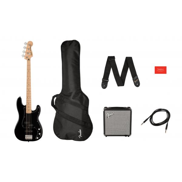 SQUIER AFFINITY PRECISION BASS PACK BAJO NEGRO