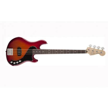 Fender Bajo Deluxe Dimension™ Bass IV, Rosewood Fingerboard, Aged Cherry Burst