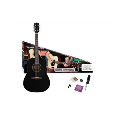 Pack Guitarra Acústica Fender CD-60 BK