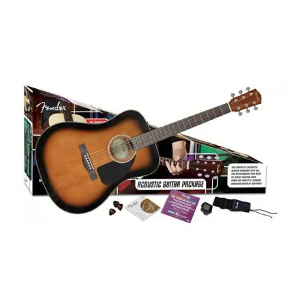 Pack Guitarra Acústica Fender CD-60 Sunburst