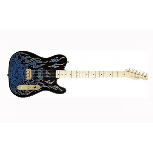 American James Burton Telecaster®, Maple Fingerboard, Blue Paisl