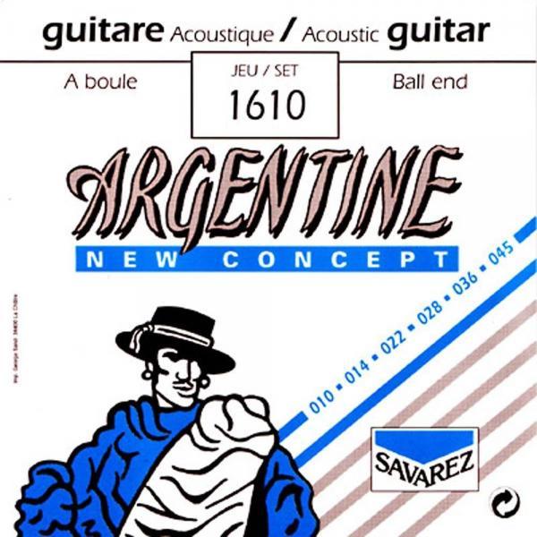 SAVAREZ ARGENTINE 1610 BOLA CUERDAS ACÚSTICA 10-45