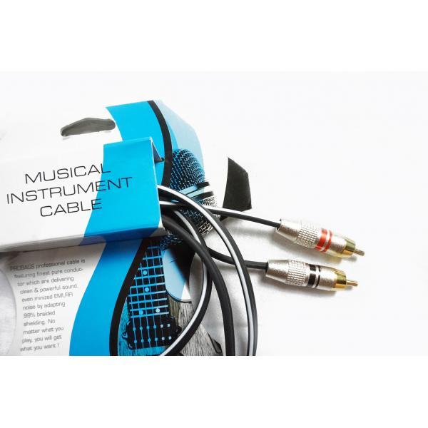 PROBAG CABLE DE AUDIO RCA DOBLE 1.8M