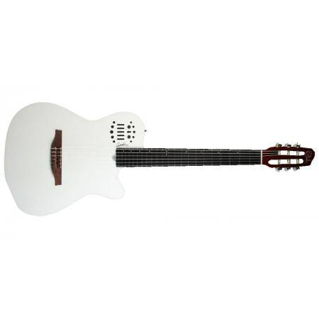 Guitarra Electroclásica Godin ACS White Nylon with Bag