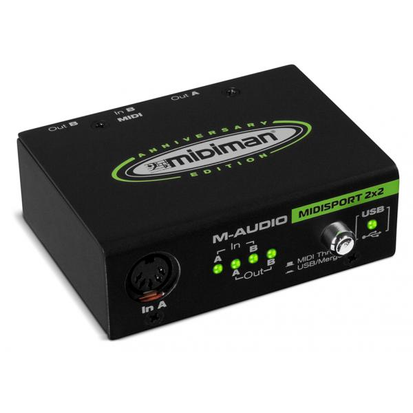 M-AUDIO MIDISPORT 2x2 Anniversary Edition Interface USB/MIDI 2/2 I/O