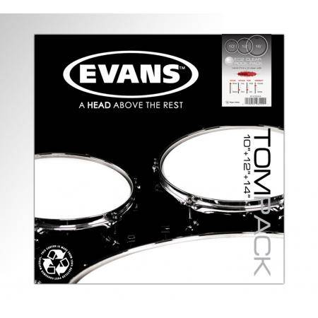 "EVANS EC2 SST CLEAR ROCK (10"",12"",16"") PARCHES"