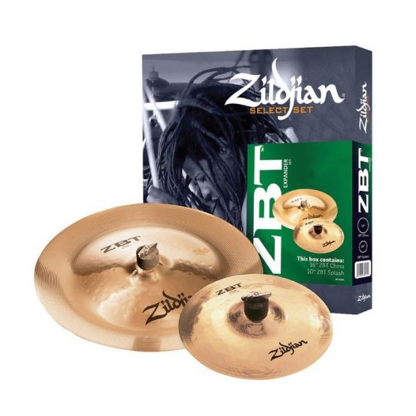 "JUEGO PLATOS ZILDJIAN ZBT 2 SELECT (SPLASH 10"" ZBT+CHINA 16"" ZBT)"