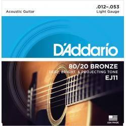 Juego Cuerdas Guit Acust D'addario Ej-11(012-053)