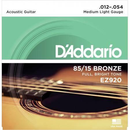 Juego Cuerdas Guit Acust D'addario Ez-920(012-054)