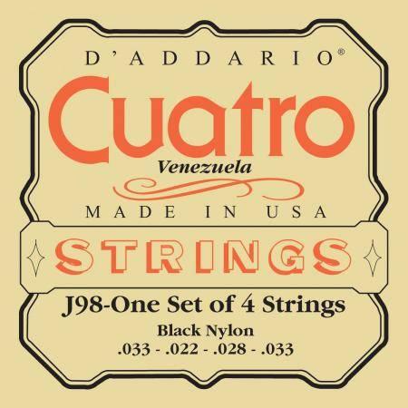Juego Cuerdas Cuatro Venezuela Bk Daddario J-98