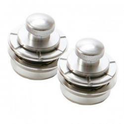 Pomos Seguridad Hennessey NSL7300S Silver Metal