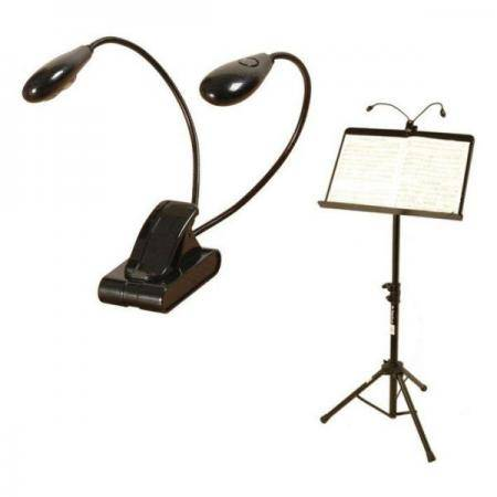 Porta Lamparas On Stage LED202 Clip 2 brazos