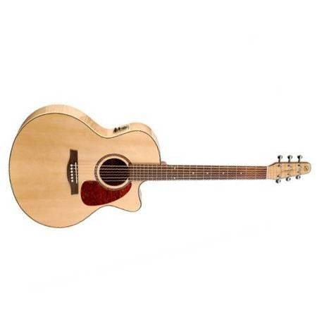 Seagull Performer CW Mini Jumbo Flame Maple HG QI Guitarra Electroacústica