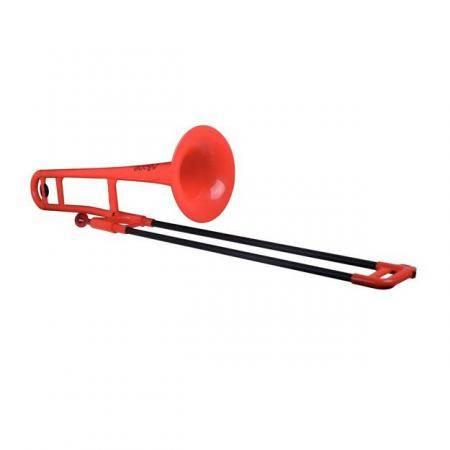 P Bone Trombón de Plástico Rojo Sib