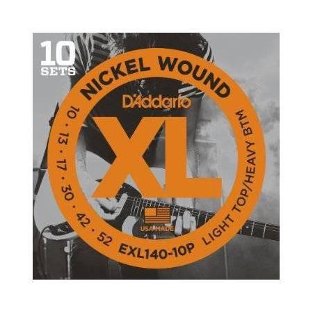D'addario Exl-140-10p Juego Cuerdas Guitarra Eléctrica