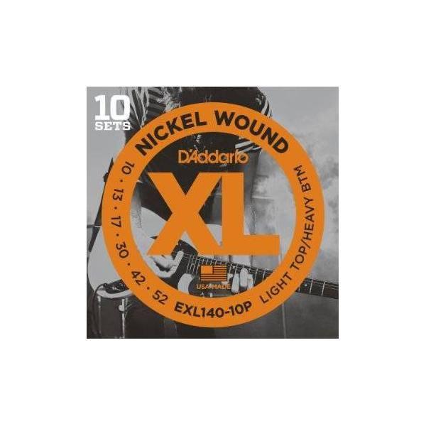 Juego Cuerdas Guit Elec D'addario Exl-140-10p