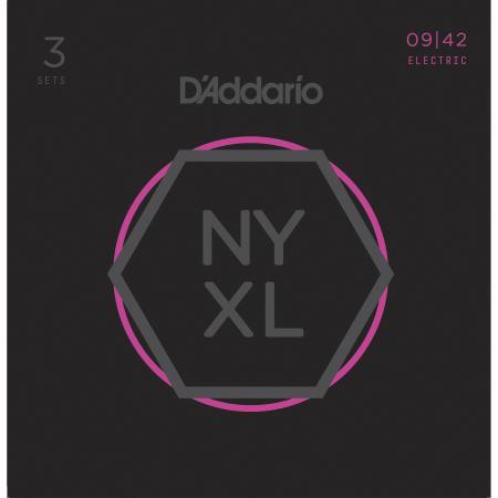 Juego Cuerdas Guit Elec D'addario Nyxl0942-3p(x3ud