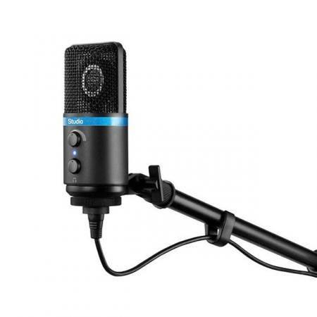Micrfono de condensador para estudio de alta definicin para iPhone iPod touch iPad Mac y Android Negro