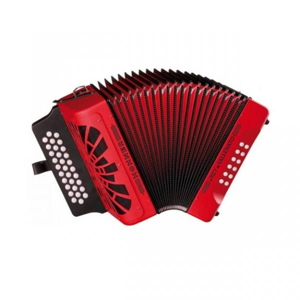 El Rey del Vallenato BbEbAb, red with Gig Bag