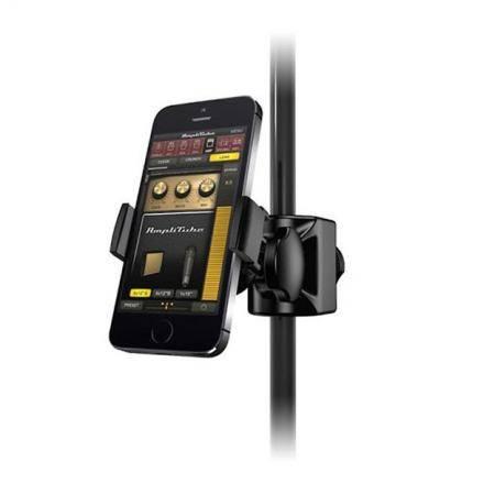 Soporte universal para iPhone iPod touch y smartphones que se coloca en un pie de micrfono
