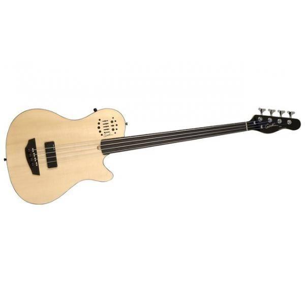 Bajo Godin A4 ULTRA Semi-Acoustic Natural SG Fretless EN SA