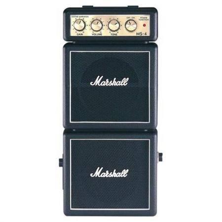 Marshall MS4 Mini 2x2W Negro a pilas