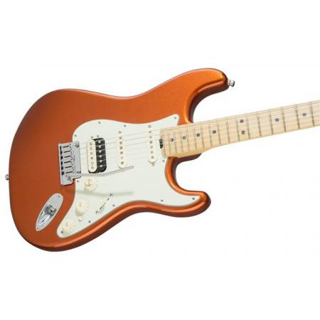 Fender American Elite Stratocaster® HSS Shawbucker, Maple Fingerboard, Autumn Blaze Metallic