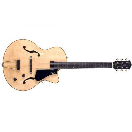 Godin 5th Avenue Jazz Natural Flame AAA HG Guitarr