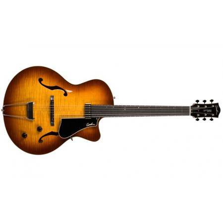 Godin 5th Avenue Jazz Sunburst AAA HG Guitarra Elé