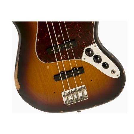 Fender Road Worn '60s Jazz Bass, Rosewood Fingerboard, 3-Color Sunbur