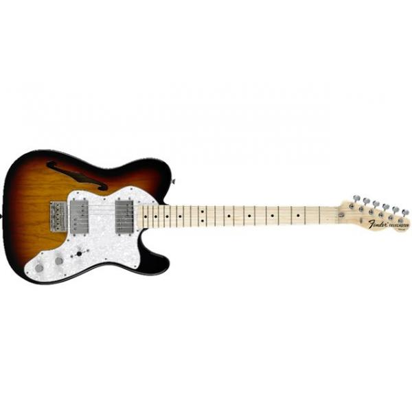Fender Classic Series 72 Telecaster Thinline, Maple Fingerboard, 3-Col