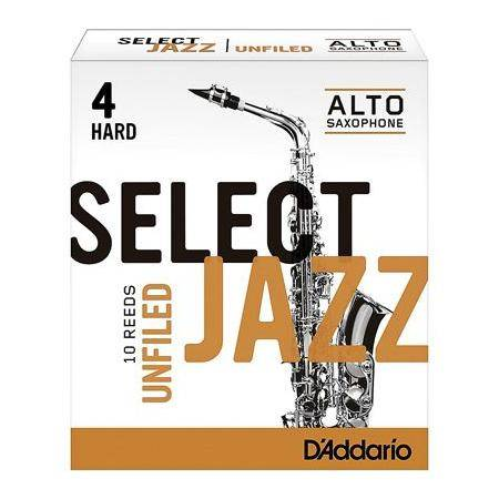 Rico Select Caña Jazz Unfiled Saxo Alto 10BX 4H