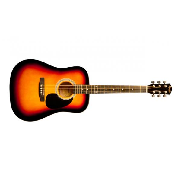 Guitarra acústica Squier SA-105 Fender color sunburst