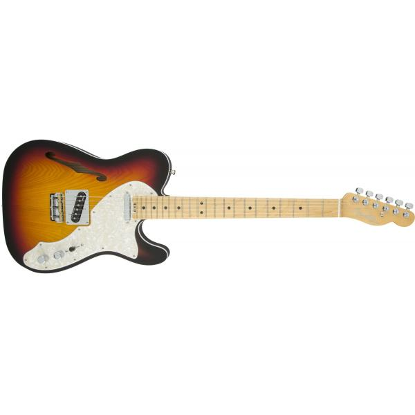 Fender American Elite Telecaster® Thinline, Maple Fingerboard, 3-Color Sunburst