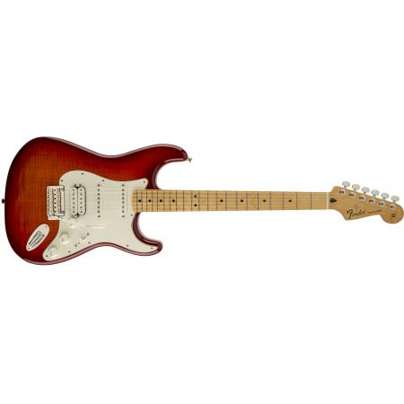 Fender Deluxe Stratocaster® HSS Plus Top with iOS Connectivity, Maple Fingerboard, Aged Cherry Burst