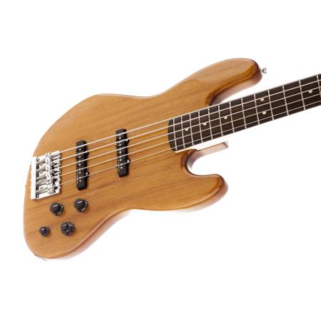 Fender Bajo Deluxe Active Jazz Bass® V Okoume, Rosewood Fingerboard, Natural