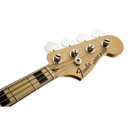 Fender Geddy Lee Jazz Bass, Maple Fingerboard, Black, 3-Pl