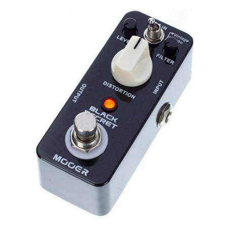 MOOER BLACK SECRET DISTORTION PEDAL GUITARRA