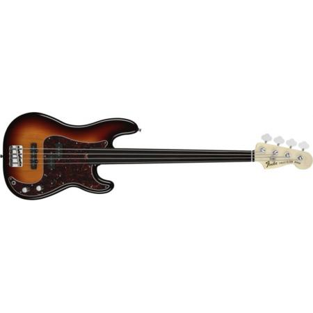 Fender Bajo Tony Franklin Fretless Precision Bass®, Ebony Fingerboard, 3-Color Sunburst